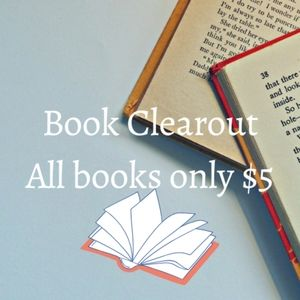 Books only $5 each!